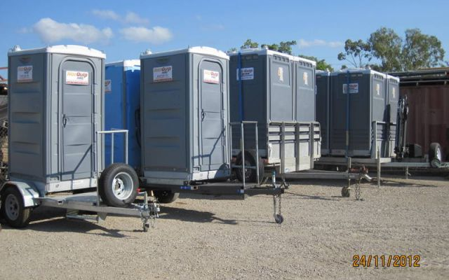 Tow-Yourself Single Toilet Trailer