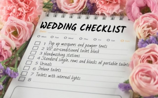 The nitty gritty of wedding planning – which equipment do you actually need?